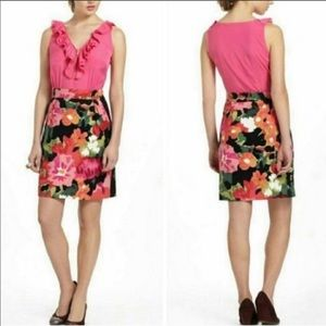 Anthropologie Tabitha Fuschia Floral Dress sz 8